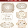 Vintage Christmas Card. Merry Christmas — Imagen vectorial