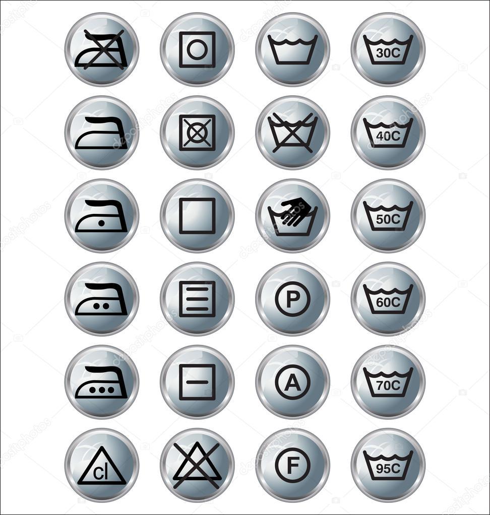 洗涤标志 — 矢量图片作者 creative-4m