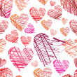 Seamless hearts pattern — Vector de stock #12243923