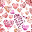 Seamless hearts pattern — ストックベクター #12243923