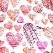 vzor bezešvé srdce — Stock vektor