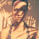 Glamorous lady in lace leotard — Stock Photo