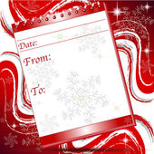 Noel blok Not sayfası ile snoflakes — Stok Vektör