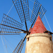 Windmill top with blue sky, Italy — Stock Photo