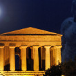 Temple of Concordia by night, Temple Valley, Sicily - Stock Photo