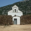 Stock Photo: SPietro church with stone wall close-up