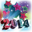 Stars Blast with 2014 year date — Vector de stock #27100359