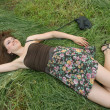 Girl on the grass — Stock Photo #12246372
