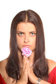 Girl with expression face — Stock Photo