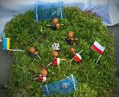 Soccer at the autumn festival in Ukraine — Stock Photo