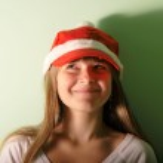 dospívající dívka s santa — Stock fotografie #12460101