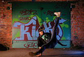 Hip-hop dancer — Stock Photo