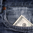 100 dollar bill in pocket — Stock Photo #12713655