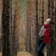 Stockfoto: Young alone women in forest