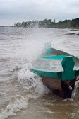 Storm on water — Stock Photo