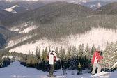 Skiers — Stock Photo