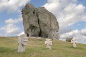 Ancient slavic crosses — Stock Photo