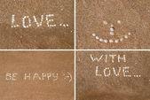 Inscriptions on the beach — Stock Photo