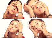 Attractive girl with expression face — Stock Photo
