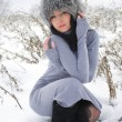 Nice girl in the winter landscape outdoor — Stock Photo #39556443