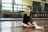 Little girl in the dance class — Stock Photo