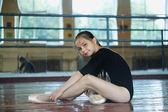 Little girl in the dance class — Stock Photo