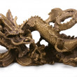 Stock Photo: Metal chinese dragon statue