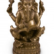 Ganesha god metal statuette — Stock Photo