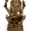 Ganesha god metal statuette — Stock Photo