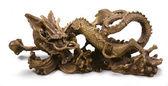 Metal chinese dragon statue — Stock Photo