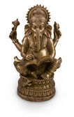 металлические статуэтка бога ганеша — Стоковое фото