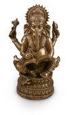 Estatueta de metal deus ganesha — Foto Stock