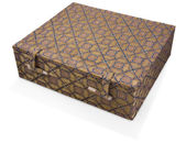 Fabric covered oriental box — Foto de Stock