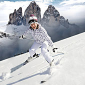 Ski alpin — Stock Photo