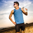 Jogging through the fields — Stock Photo #13967464