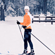 Cross-country skiing — Stock Photo