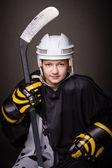 Hockey girl — Stock Photo