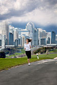 Joggen vrouw — Stockfoto