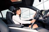 Driving girl — Stock Photo