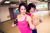 Gym girl — Stockfoto
