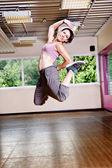 девочка спортзала — Стоковое фото