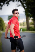 Cycling man — Stock Photo