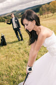 Wedding golf — Stock Photo