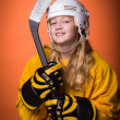 Stock Photo: Hockey girl