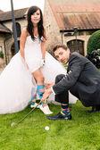 Bruiloft golf — Stockfoto