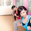Gym room girl — Stock Photo