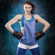 Stock Photo: Tae Bo Girl