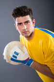 Soccer goalkeeper — Stock Photo