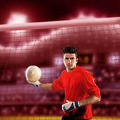 サッカーのゴールキーパー — ストック写真