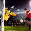 Soccer game — Stock Photo